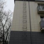 Fasadinės kopėčios be lanko