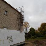 Fasadinės kopėčios su lankais